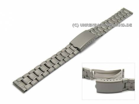 Watch strap 14mm titanium folded matt with clasp - Bild vergrößern