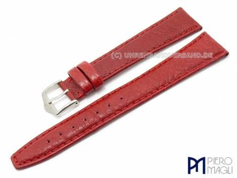 Watch band -Bisonte XL- 20mm red bison grain by Piero Magli (width of buckle 16 mm) - Bild vergrößern
