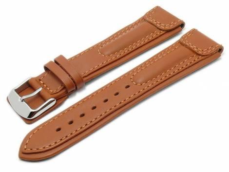 Watch strap -Apulia- 22mm light brown leather extreme look by RIOS (width of buckle 20 mm) - Bild vergrößern