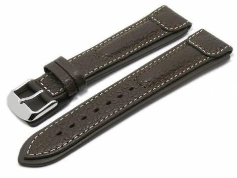 Watch strap -Performance- 22mm dark brown buffalo leather extreme look by RIOS (width of buckle 20 mm) - Bild vergrößern