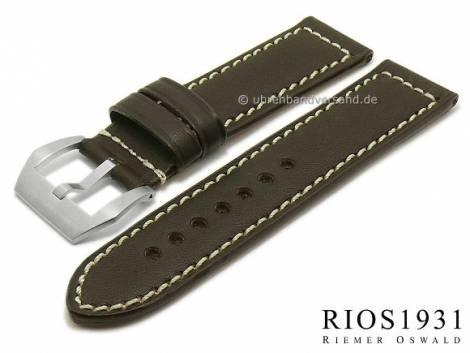 Watch band XL -Firenze- 26/26mm dark brown RIOS for OFFICINE PANERAI (width of buckle 26 mm) - Bild vergrößern