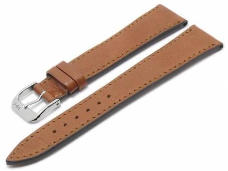 BIO leather watch strap -Peiting- 18mm light brown grained matt stitched by RIOS (width of buckle 16 mm) - Bild vergrößern