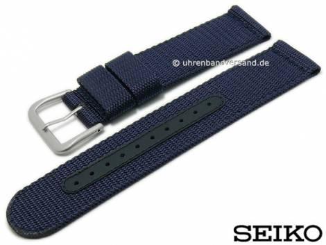 Replacement watch strap SEIKO 22mm dark blue Nylon/textile for SNZG11K1 etc. - Bild vergrößern