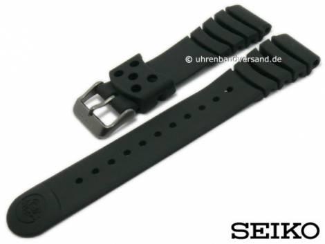 Replacement watch strap SEIKO 20mm black silicone diver style for SKA579P2, SKA427P2 etc. - Bild vergrößern