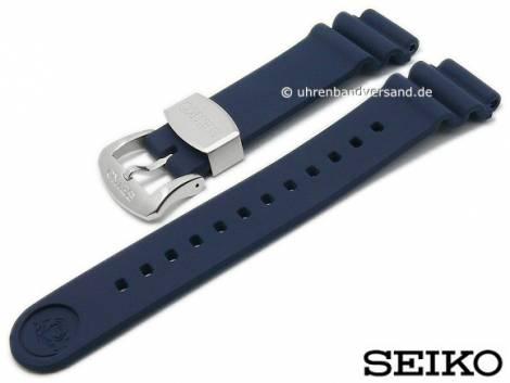 Replacement watch strap SEIKO 20mm dark blue rubber diver look for SPB071J1 etc. - Bild vergrößern