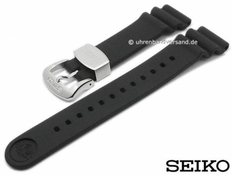 Replacement watch strap SEIKO 22mm black rubber for SRP777K1, SRP777J1, SRP779J1, SRPB53K1 etc. - Bild vergrößern