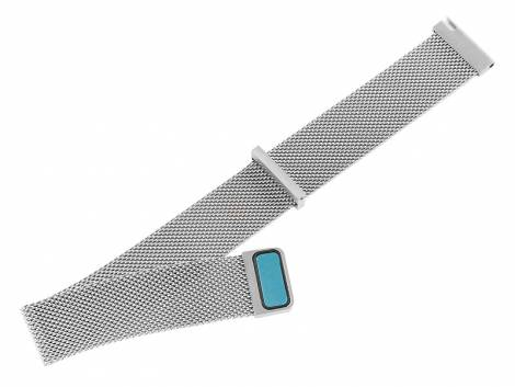 Watch strap 20mm mesh EASY-CLICK ready fine structure with magnetic clasp - Bild vergrößern