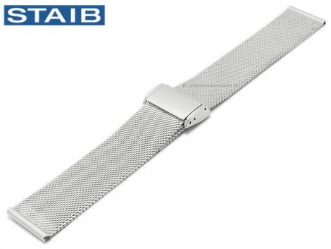Watch strap 20mm mesh polished fine structure with slide clasp by STAIB - Bild vergrößern