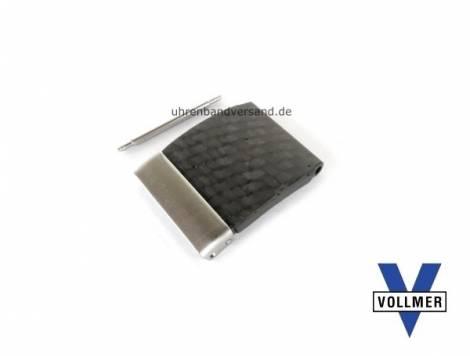 Band component 20mm carbon/stainless steel anthracite short for SES bands by Vollmer - Bild vergrößern