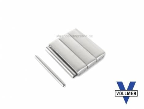 3 pcs set individual link 22mm stainless steel satined for SES-Band by Vollmer - Bild vergrößern