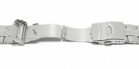 Watch strap -Crailsheim- 22mm stainless steel curved ends with security clasp by VOLLMER - Bild vergrößern