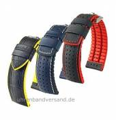 Hightech watch band leather/caoutchouc of the Performance Collection by HIRSCH