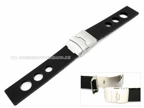 Racing style watch straps leather/ textile/synthetic in diverse designs - Bild vergrößern