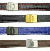 MySportivo-02: Meyhofer Watch straps with clasp contrast stitching in multiple styles