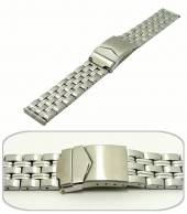 Watch band 20mm stainless steel solid-look casual design from Eichmueller