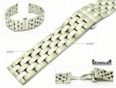 Watch band 22mm stainless steel solid partly polished suitable for Breitling etc. from Eichmueller