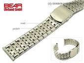 Stainless steel band 22mm solid-look partly polished sporty from BEAR