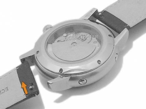 Meyhofer EASY-CLICK watch strap XL -Ludington- 20mm black genuine deer leather grained (width of buckle 18 mm) - Bild vergrößern