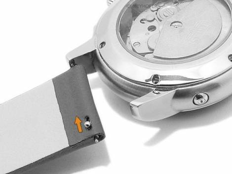 Meyhofer EASY-CLICK watch strap -Grayton- 20mm rust brown apple fibers VEGAN matt (width of buckle 20 mm) - Bild vergrößern