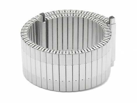 Watch band -Lindsborg- 20-22mm stainless steel expansion band with telescopic ends partly polished by MEYHOFER - Bild vergrößern