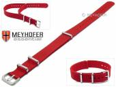 Watch strap Kearney 16mm red textile/synthetic one-piece strap in NATO style by MEYHOFER