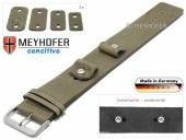 Watch strap Starnberg 14-16-18-20mm multiple ends beige leather antique look vegetable tanned leather pad MEYHOFER