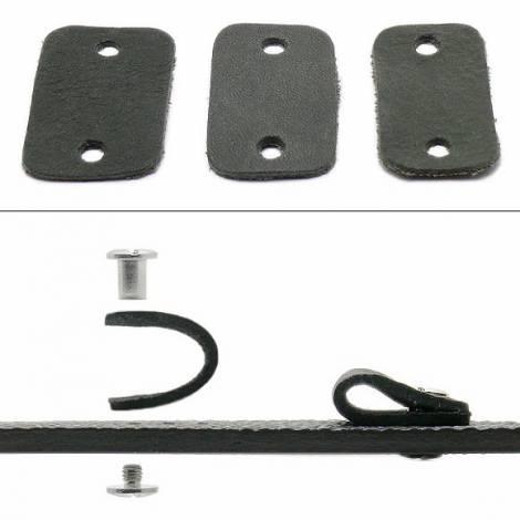 Watch strap -Karasburg- 20-22-24mm multiple ends dark grey leather antique look leather without stitching pad MEYHOFER - Bild vergrößern