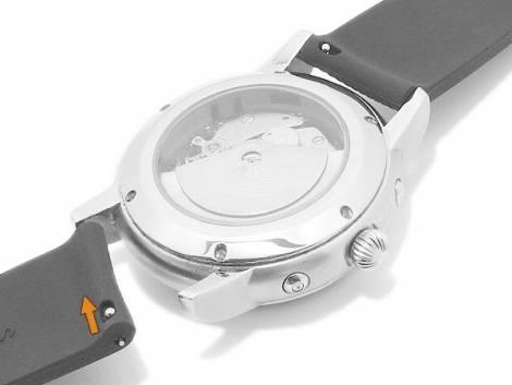 Watch strap 22mm dark blue silicone with easy change spring bars for SAMSUNG a.o. watches & smart watches - Bild vergrößern