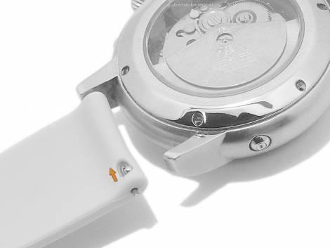 Watch strap 20mm pink silicone with easy change spring bars for SAMSUNG, GARMIN a.o. watches & smart watches - Bild vergrößern