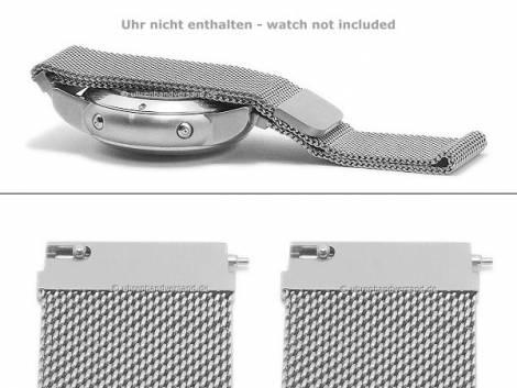Watch strap 20mm rosé golden mesh fine structure easy change spring bars SAMSUNG, Pebble a.o. watches & smart watches - Bild vergrößern