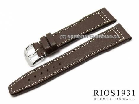 Aviator watch strap -Typhoon- genuine buffalo leather by RIOS - Bild vergrößern
