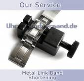 Service: Shortening of metal watch bands (with links)