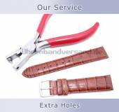 Service: Extra holes (leather straps)