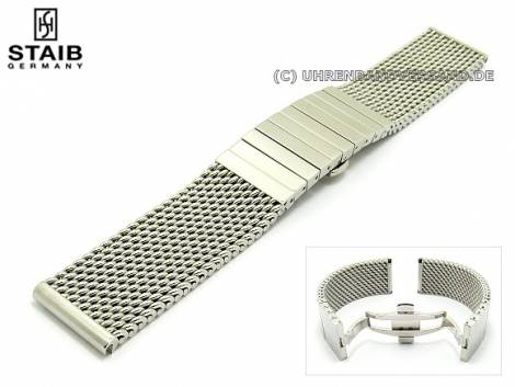 Additional Link 22mm stainless steel solid for watch band St-MD04 by STAIB - Bild vergrößern
