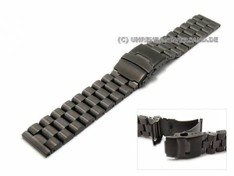 Black stainless steel watch bands in diverse designs - Bild vergrößern