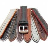 Sporty watch strap  Estero alligator grain multi-colored from MEYHOFER
