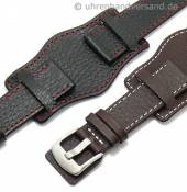 Watch strap with leather pad Tempelhof stitching from MEYHOFER