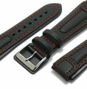 Aviator-Watch strap Chronissimo with leather pad under buckle by DI-MODELL