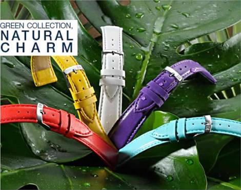 Ecological Watch Bands in leather look made of synthetic materials in various styles from the GREEN COLLECTION - Bild vergrößern