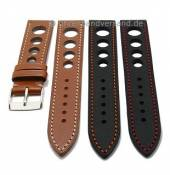 Premium watch strap Racing design Eco Aere with contrast stitching by LIC Atelier