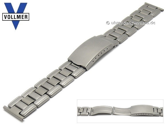 ad209f5cd46 Watch strap -Rheinfelden- 20mm titanium with clasp by VOLLMER - Bild  vergrößern