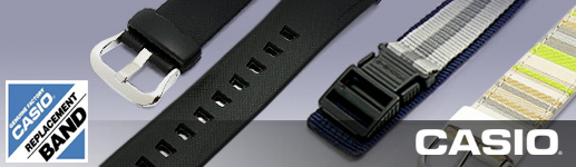 CASIO Watch straps including original replacement straps