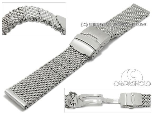 d3dcb484233 Watch strap 20mm stainless steel mesh robust structure matt with clasp by  CAMPAGNOLO - Bild vergrößern