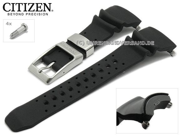 Replacement Watch Strap Citizen Black Caoutchouc For Bj8050 08e