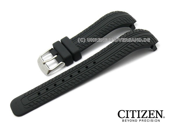 Replacement Watch Strap Citizen Bm6530 04f Black Rubber Structured