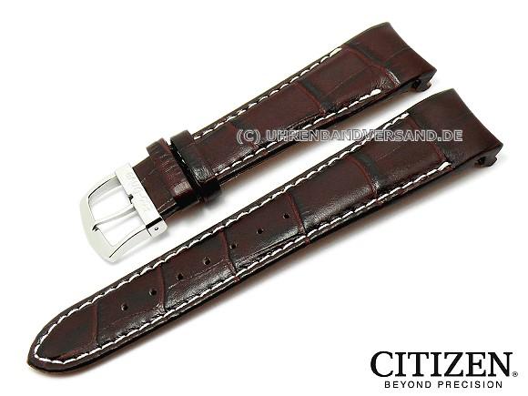 Replacement Watch Strap Citizen 22mm Dark Brown Alligator Grain At0550 11x 4 S049628