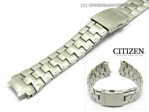 Replacement watch strap CITIZEN 22mm stainless steel partly polished for  BM6630-51F - Bild vergrößern a1974f2ac107