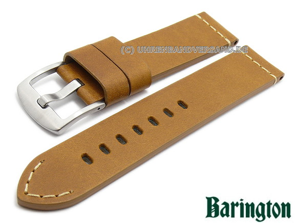 2c45c1eb4 Watch strap -Orion- 22mm light brown leather smooth matt light stitching by  EULIT (
