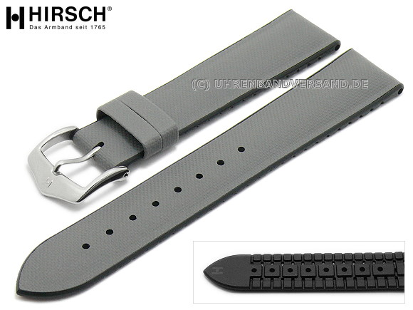 a1666496cbc Watch strap -Arne- 22mm light grey leather caoutchouc canvas sail look  black sides