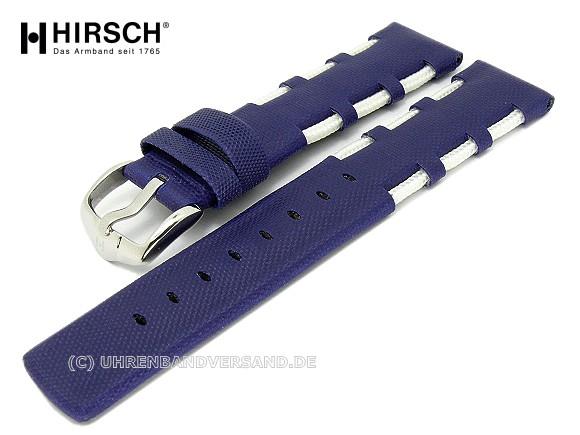 Watch band -Railing- 22mm royal blue textile in a typical sailing design by  HIRSCH 4feb2439b45c